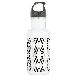 Black Triangles Water Bottle