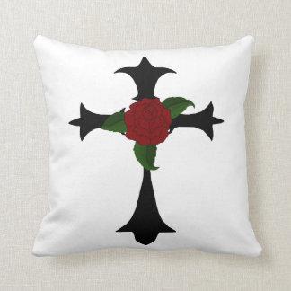 Black Tribal Cross Reversible Pillow