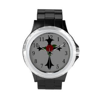 Black Tribal Cross Watch