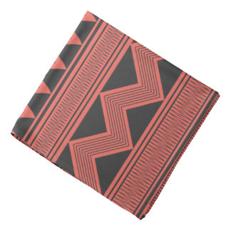 Black tribal geometric pattern bandana