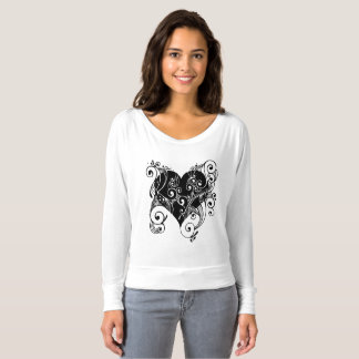 Black Tribal Heart Shirt