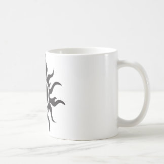 Black Tribal Sun Coffee Mug