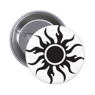 Black Tribal Sun Pin