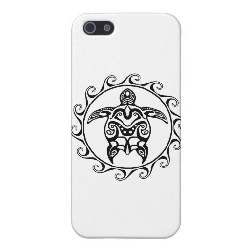 Black Tribal Turtle Cover For iPhone 5