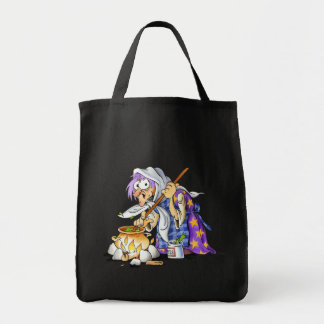 Black Trick Or Treat Bags With Purple Witch