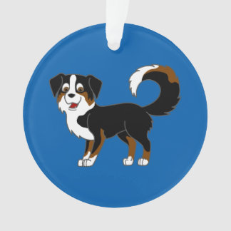 Black Tricolor Australian Shepherd Dog Ornament