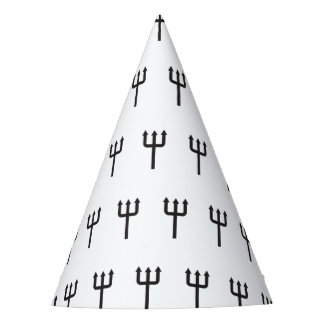 Black tridents pattern Halloween Party Hat