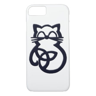 Black Trinity Knot Celtic Cat  iPhone 8/7 Case