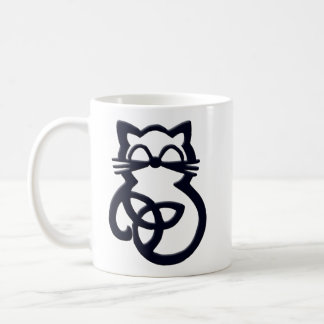 Black Trinity Knot Celtic Cat Mug