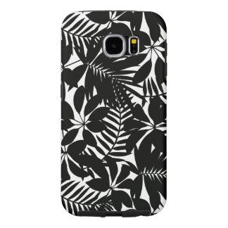 Black tropical samsung galaxy s6 cases