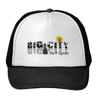 "Black Trucker cap, logo ""Big City Style "" Cap"