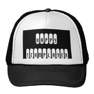 Black Trucker Hat Happy Teamplayer