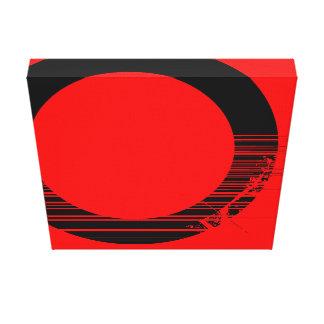 black tube canvas print
