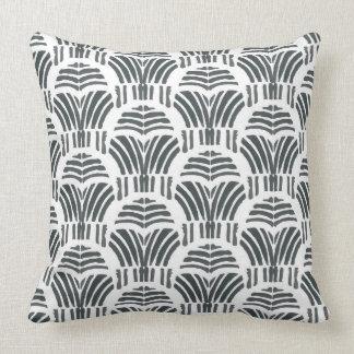 Black tulips hand print cushion