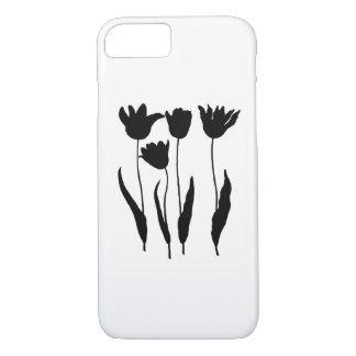 black tulps iPhone 7 case