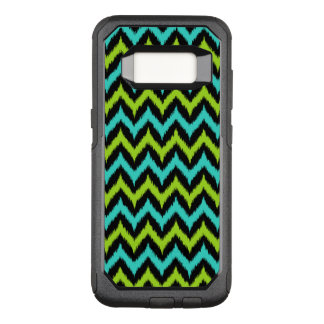 Black, Turquoise and Green Zigzag Ikat Pattern OtterBox Commuter Samsung Galaxy S8 Case