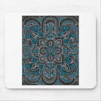 Black turquoise night mouse pad