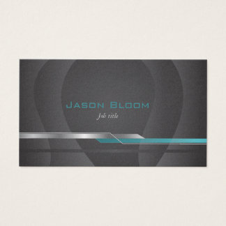 Black turquoise teal business card