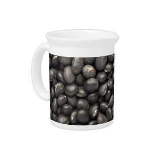 Black turtle bean pitcher
