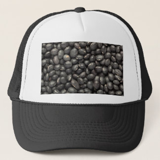 Black turtle bean trucker hat