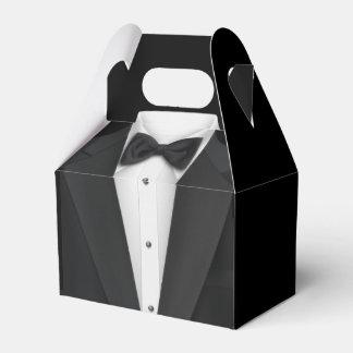 Black Tuxedo and Wedding Dress Favour Box