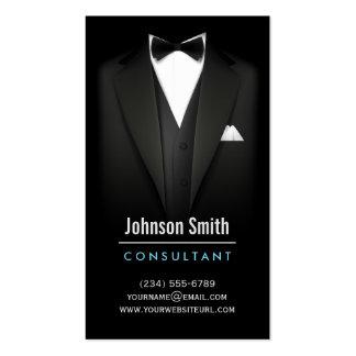 Black Tuxedo Businessman Suit - Mod Simple Stylish Pack Of Standard Business Cards