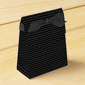 Black Tuxedo Charcoal Grey Baby Stripe Favour Box