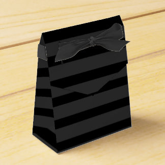 Black Tuxedo Charcoal Grey Wide Stripe Formal Favour Box
