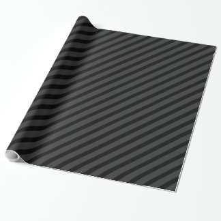 Black Tuxedo Charcoal Thin Diagonal Stripe Wrapping Paper