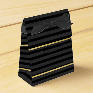 Black Tuxedo Stripe Charcoal Grey Formal Favour Box