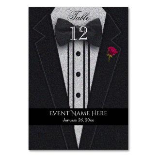 Black Tuxedo Table Cards