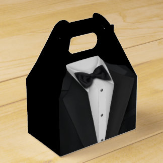 Black Tuxedo Wedding Favour Boxes
