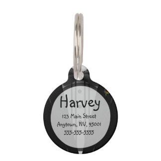 Black Tuxedo with Bow Tie Pet ID Tags