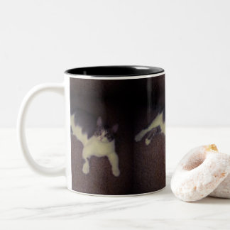 Black Two Tone Cat Mug