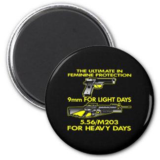 Black Ultimate Feminine Protection Fridge Magnets