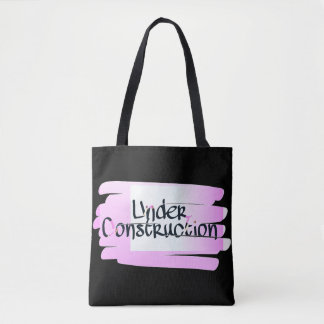 Black Under Construction Tote
