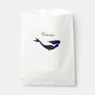 black underwater mermaid Thunder_Cove Favour Bag