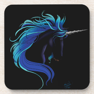 Black Unicorn Coaster