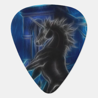 Black Unicorn Fantasy Guitar Pick