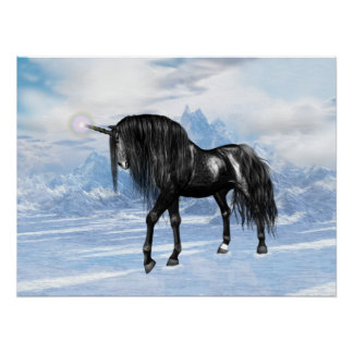 Black Unicorn Poster