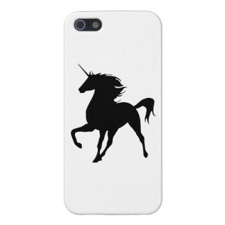 Black Unicorn Silhouette iPhone 5 Case