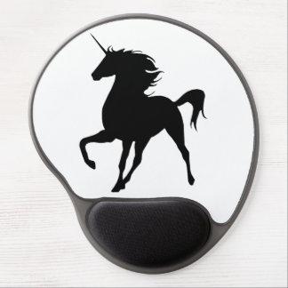 Black Unicorn Silhouette Mouse Pad