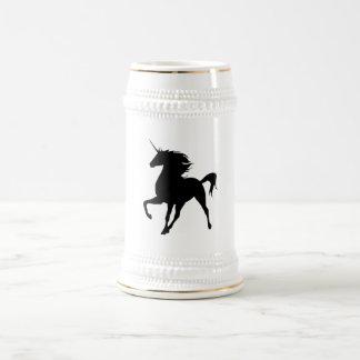 Black Unicorn Silhouette Stein