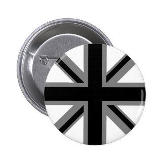 Black Union Jack 6 Cm Round Badge
