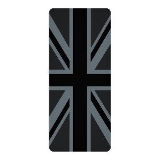 Black Union Jack British Flag Design Customize it 10 Cm X 24 Cm Invitation Card