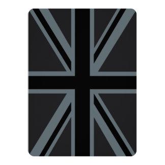 Black Union Jack British Flag Design Customize it Card