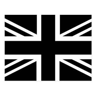 Black Union Jack British (UK) Country Flag Post Cards