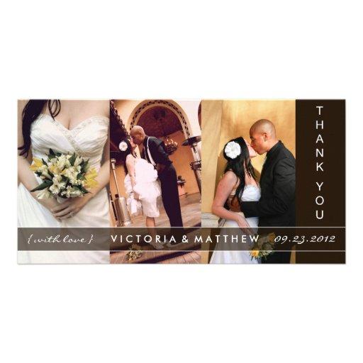 BLACK UNION   WEDDING THANK YOU CARD PERSONALIZED PHOTO CARD