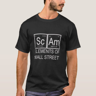 black unisex tee shirt scam  wall street elements