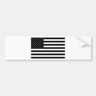 Black United States of America (USA) Country Flag Bumper Sticker